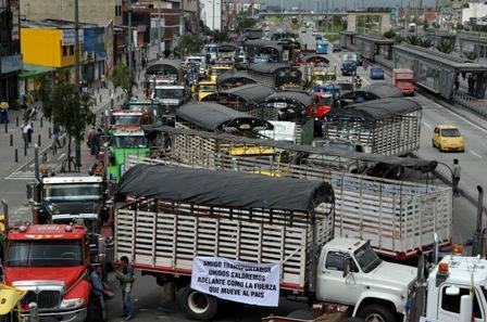 Cárcel para responsables de delitos en paro camionero