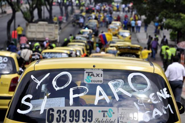 Taxistas de Cali se unirán al paro nacional este 16 de marzo