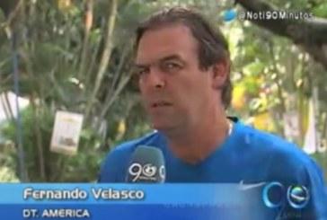 Velasco espera ratificar el buen momento del América frente al Cali