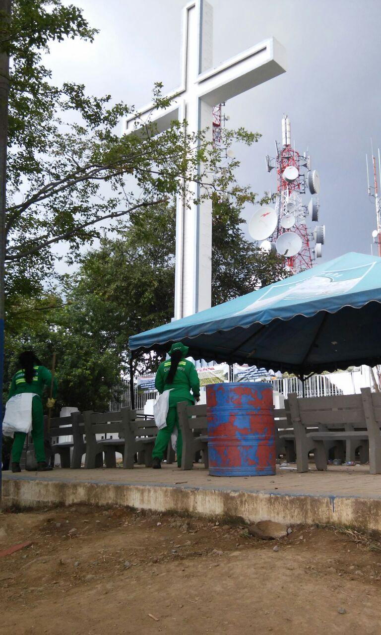 Catorce  toneladas de residuos se recogieron en los cerros durante semana santa