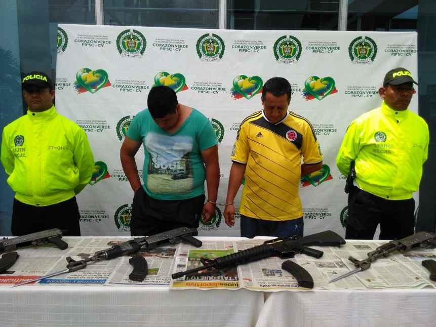 Policía incautó seis fusiles en el barrio El Refugio