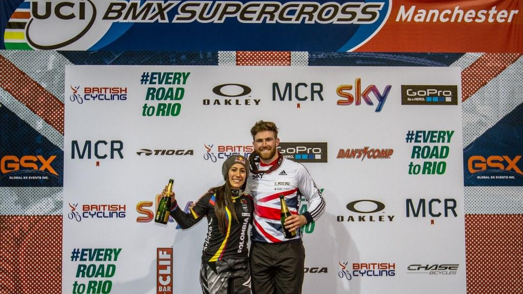 Mariana Pajón ganó oro en la contrarreloj individual de la Copa Mundo de BMX