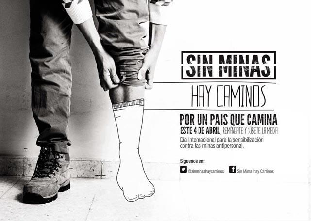 Remángate por las víctimas de las minas antipersonal