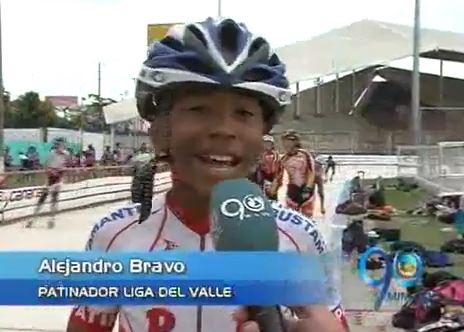 Alejandro Bravo, uno de los futuros campeones del patinaje para el Valle
