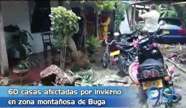 60 viviendas han sido afectadas por el fuerte invierno en zona rural de Buga