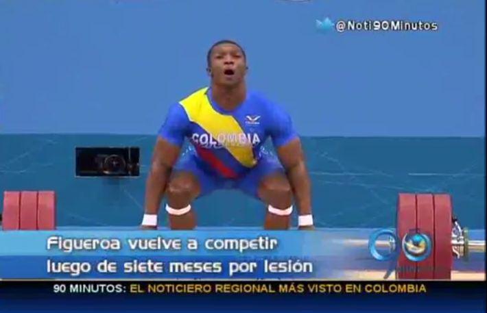 Óscar Figueroa quiere volver a lo más alto de las pesas en Colombia