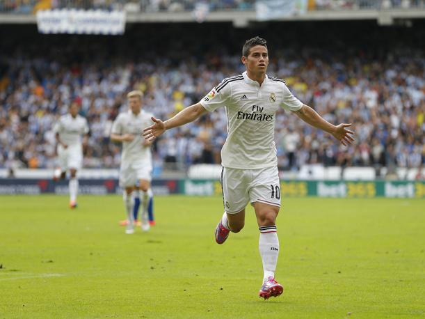 James Rodríguez anotó un gol en el triunfo del Real Madrid