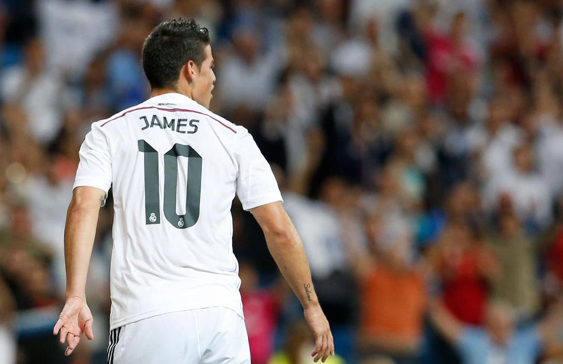 James Rodríguez regresa al Real Madrid en un triunfo de 9-1 frente al Granada