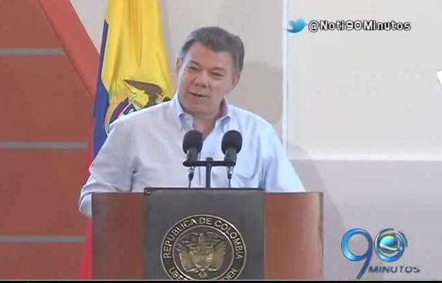 Presidente Santos rechazó el ataque de las Farc a los militares en el Cauca