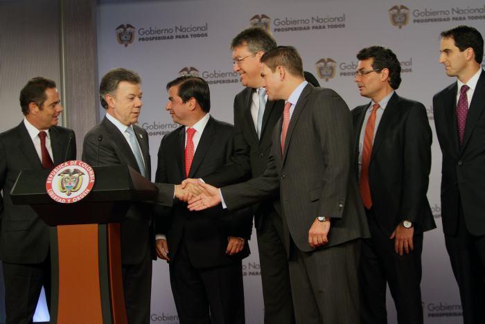 Presidente Santos y su gabinete visitan Cali