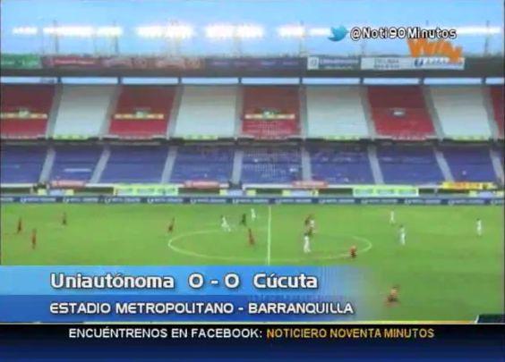 Empate de Uniautónoma y Cúcuta benefició al Cortuluá en el descenso