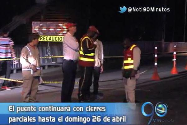 Culminó primera fase de las obras de reestructuración del Puente de Juanchito