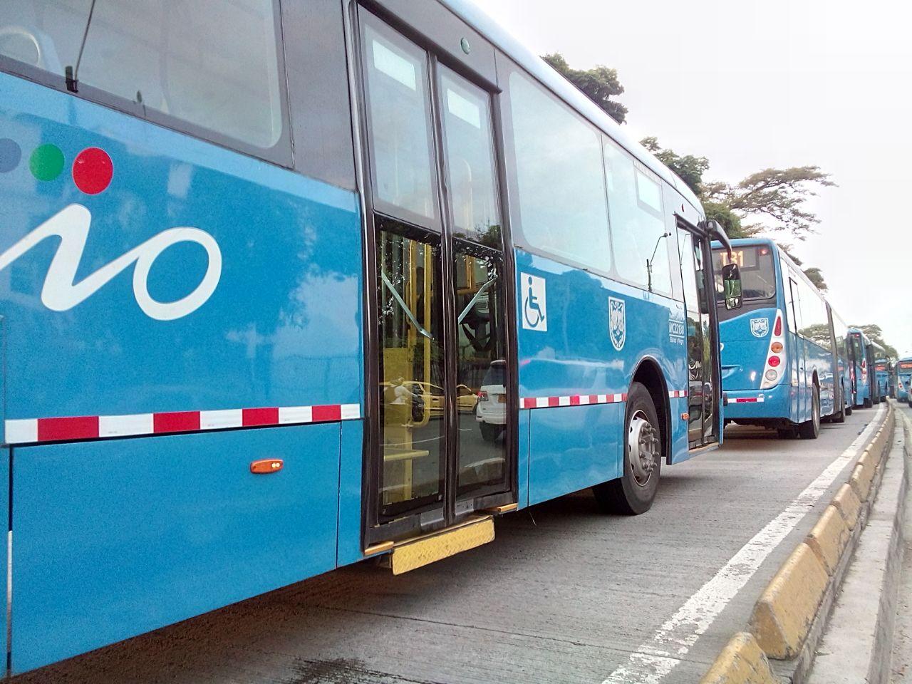 Choque de dos buses articulados del Mío causan congestión en el sur