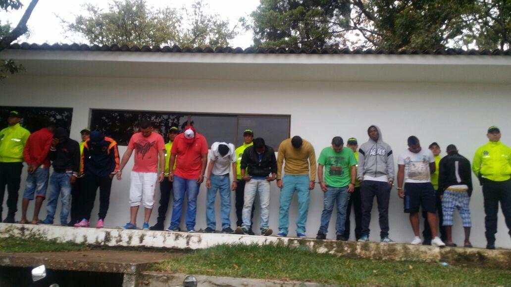 Capturan doce personas que delinquían para alias el búho