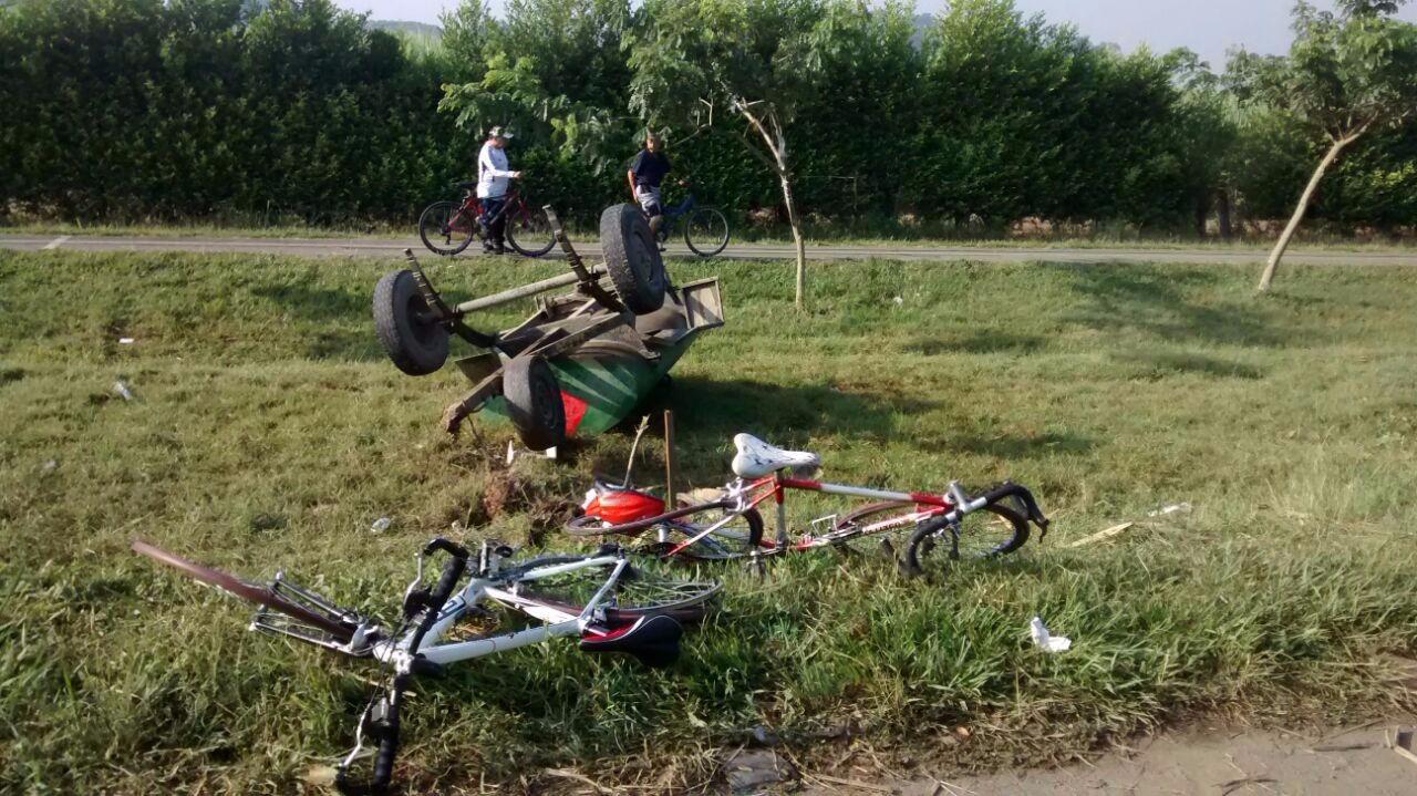 Cinco ciclistas resultaron heridos en la recta Cali- Palmira