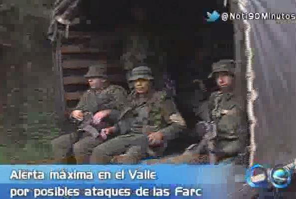 Policía Valle toma medidas preventivas ante posibles ataques de las Farc