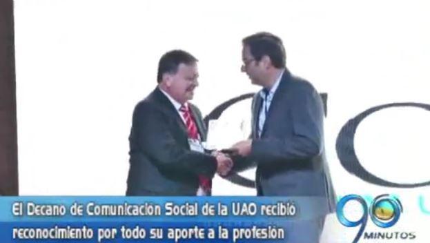 Decano de Comunicación Social de la UAO recibió Premio Commcorp en Medellín