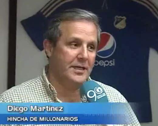 Diego Martínez, un viejo hincha de Millonarios que espera celebrar en Cali