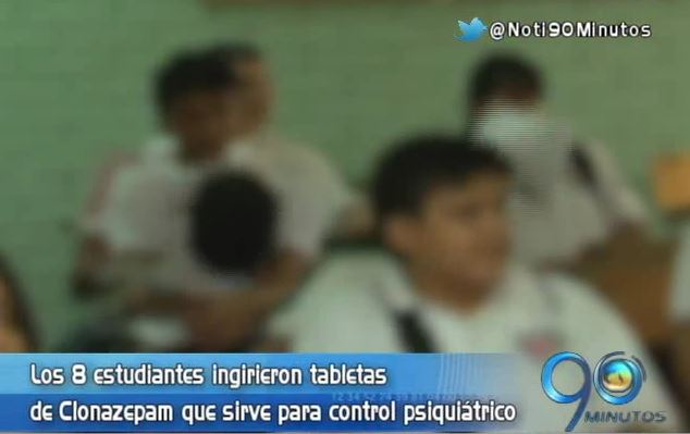Ocho estudiantes menores de edad se intoxicaron con medicamento psiquiátrico