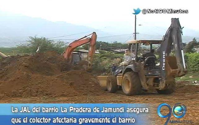 Habitantes de Jamundí se oponen a construcción de colector de aguas
