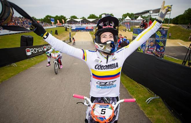 Mariana Pajón ganó medalla de oro en Copa Mundo de BMX