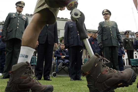 Militar perdió una pierna al pisar mina antipersonal en el Cauca