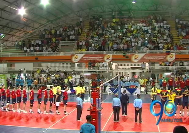 Colombia perdió en su primer partido en el Suramericano de voleibol