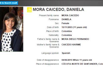 Daniela Mora fue liberada luego de tres días de secuestro