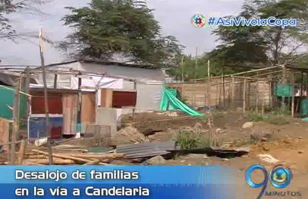 Autoridades de Candelaria desalojaron invasión cerca al puente de Juanchito
