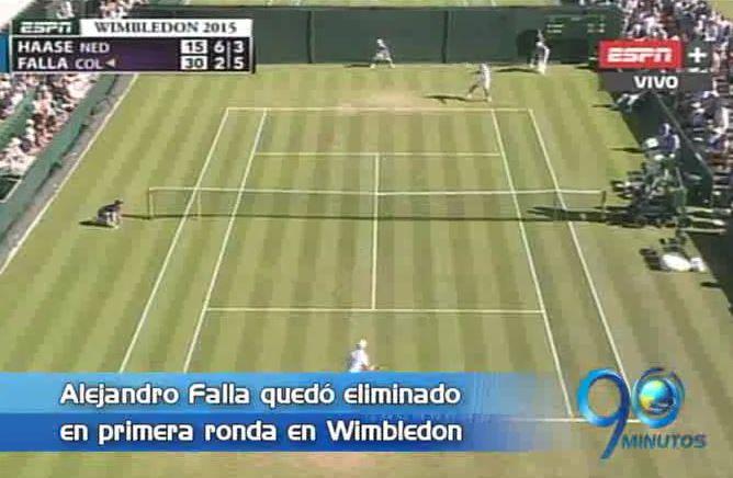 Alejandro Falla eliminado en la primera ronda de Wimbledon