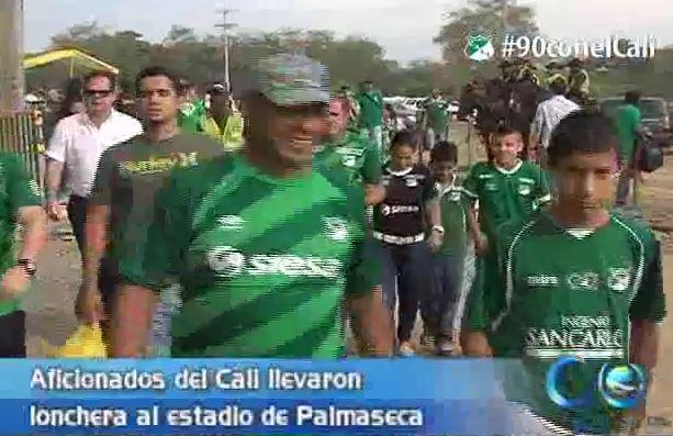 Así vivieron el partido los hinchas que asistieron al estadio de Palmaseca