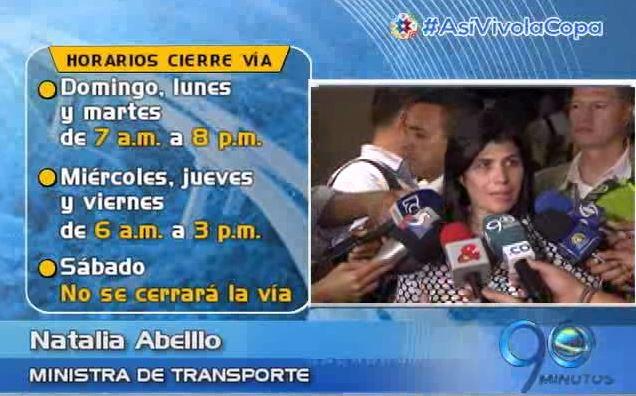 Min.Transporte anunció nuevos horarios de cierre en vía Buga Buenaventura