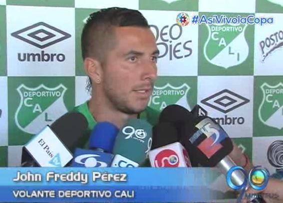 """""""Es un bonito reto venir a jugar al Deportivo Cali"""": Jhón Pérez"""