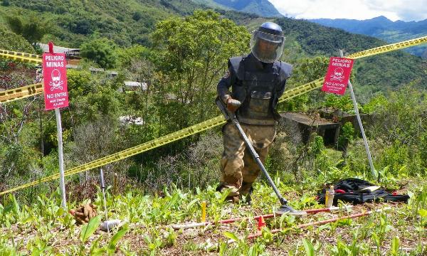 El proyecto de desminado aterrizó en Antioquia