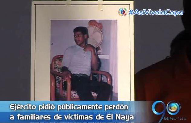 Ejército pidió perdón por las víctimas de la masacre de El Naya