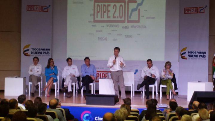 Presidente Santos presentó el programa Pipe 2.0