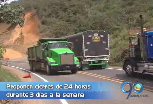 CCI propone cierres de 24 horas por 3 días en la vía Buga Buenaventura