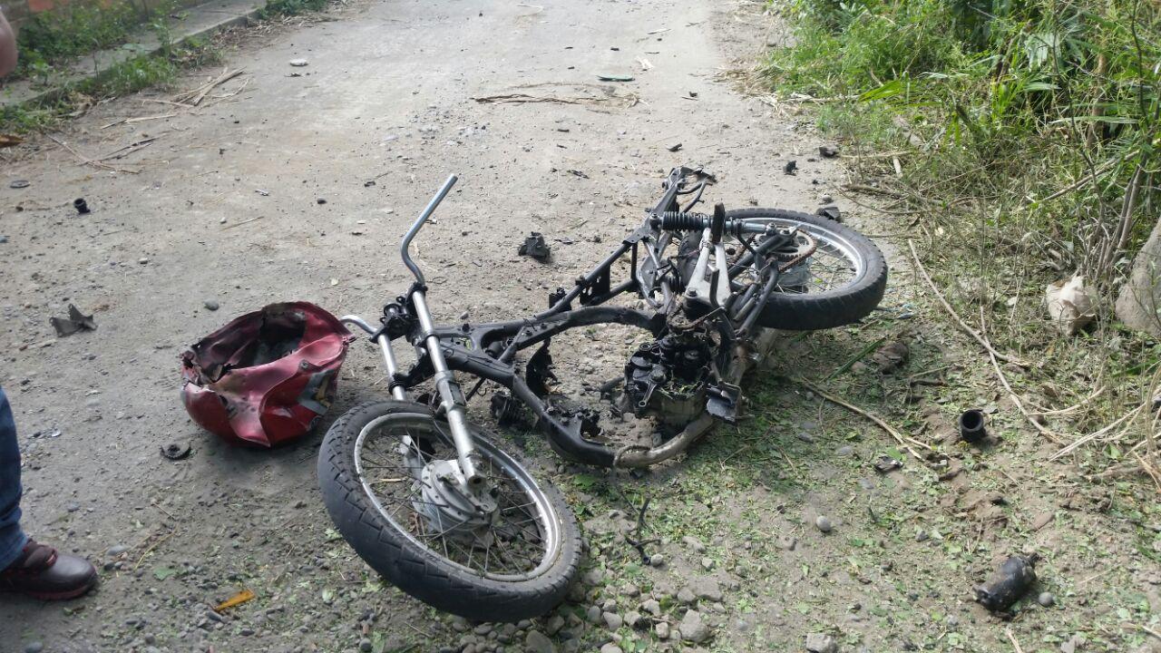 Armada de Tumaco detonó moto cargada de explosivos