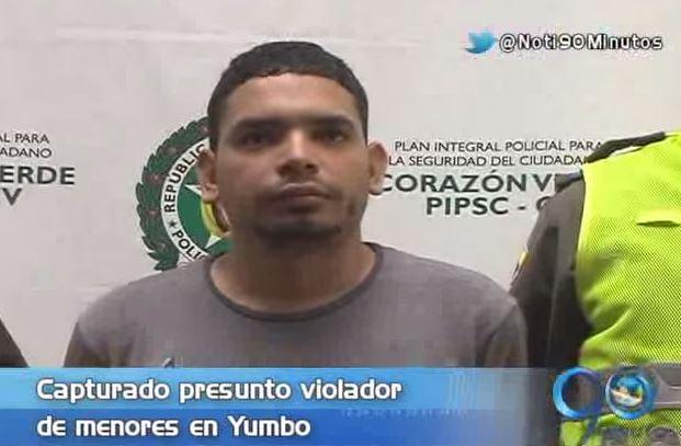 Capturado presunto violador de cinco menores en Yumbo, Valle