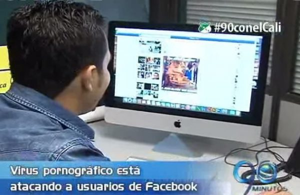 Advertencia a usuarios de Facebook sobre virus pornográfico