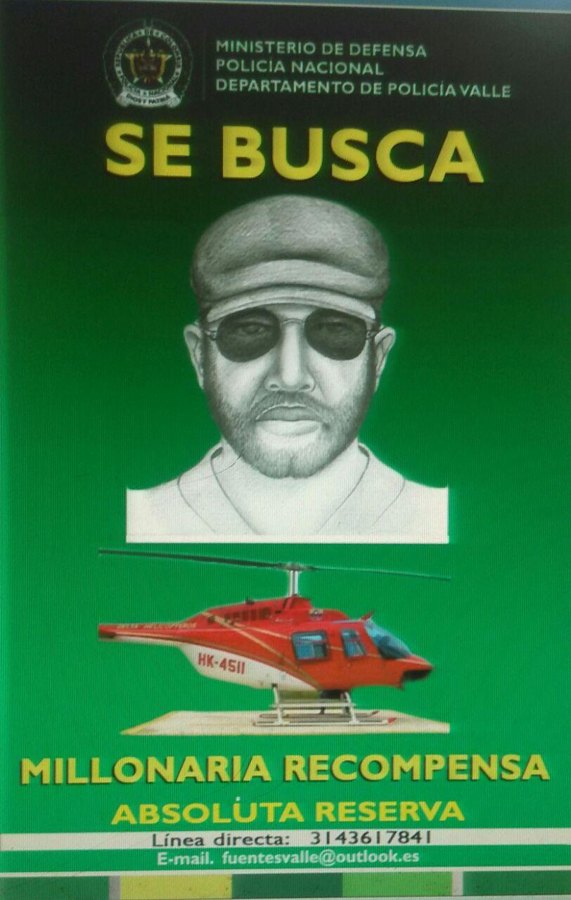 Policía revela retrato hablado del responsable que robó helicóptero