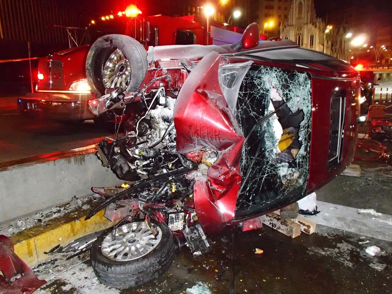 Un muerto y un herido dejó aparatoso accidente vehícular