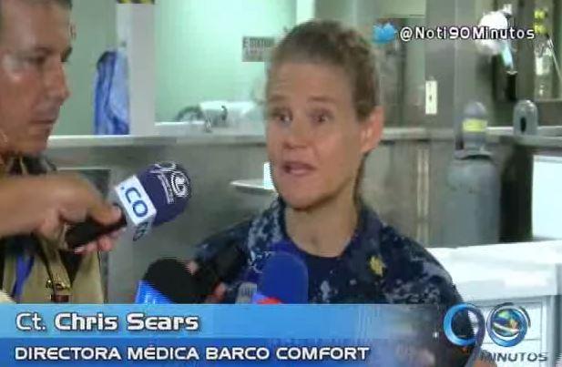 El Barco Hospital Comfort llegó a Buenaventura
