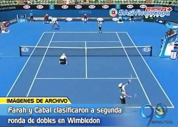 Farah y Cabal avanzaron a la segunda ronda de dobles en Wimbledon
