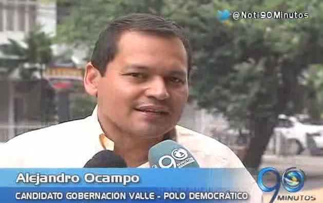 Alejandro Campo inscribió su candidatura a la Gobernación del Valle