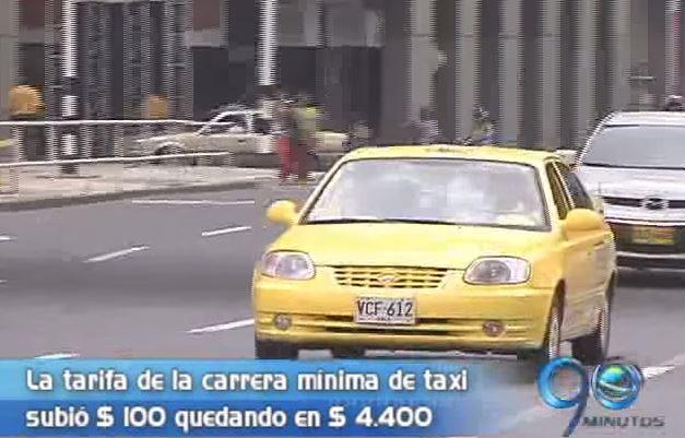 Carrera mínima de taxi subió $100 a partir de hoy en Cali