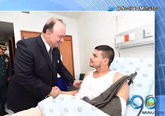 Subteniente Moscoso estaría por lo menos una semana más en el Hospital