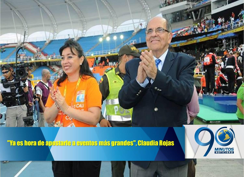 """""""Ya es hora de apostarle a eventos más grandes"""":  Claudia Rojas"""