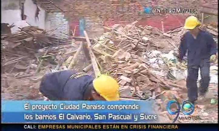 Avanzan demoliciones del proyecto Ciudad Paraíso en el centro de Cali