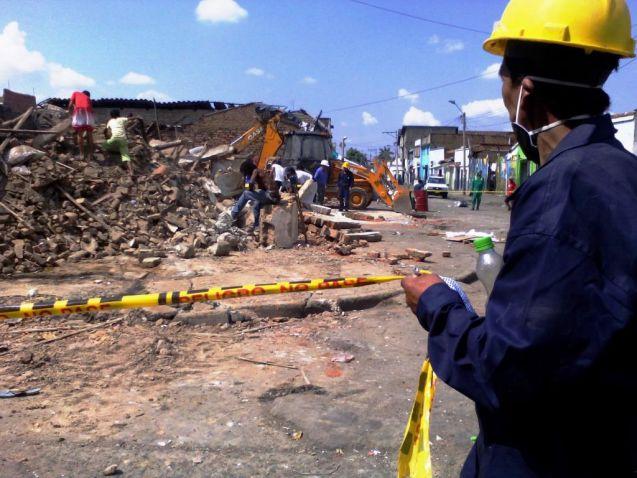 Emru inició las demoliciones en el barrio El Calvario